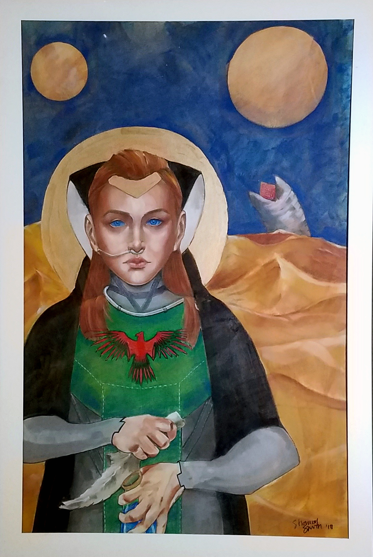 Pastel painting of Alia atreides from the dune novels